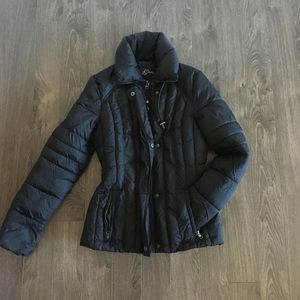 Guess Nylon Black Coat Size Small